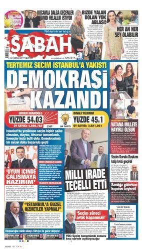 İktidara yakın gazeteler İmamoğlu'nun zaferini böyle gördü