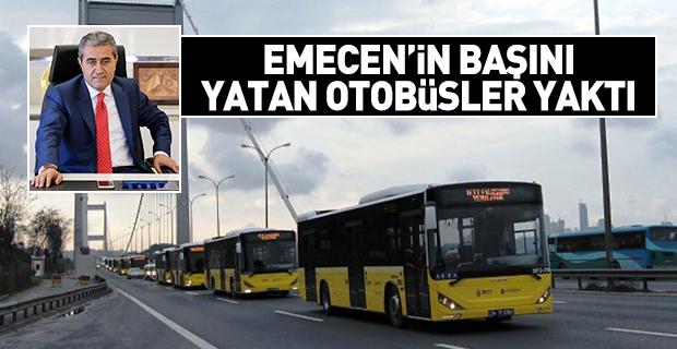 Arif Emecen'in başını yatan otobüsler yedi