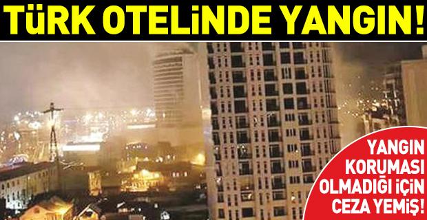 Batum'daki Türk otelinde yangın