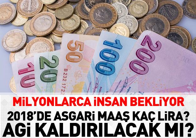 2018 yılında asgari maaş kaç lira olacak
