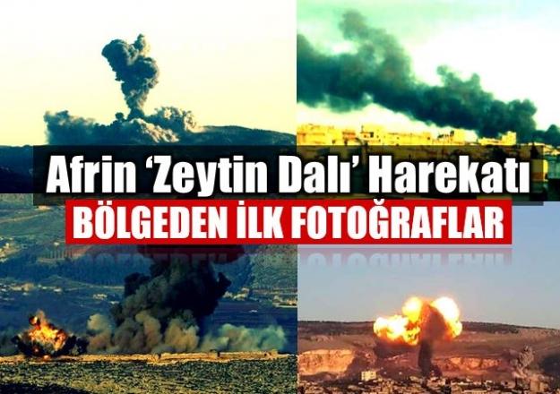 Afrin'e kara harekatı başladı(Zeytin Dalı Harekatı'nda ikinci gün)