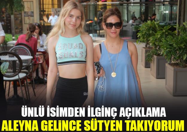 Aynur Aydın'dan Aleyna Tilki açıklaması: Eve gelince sütyen takıyorum