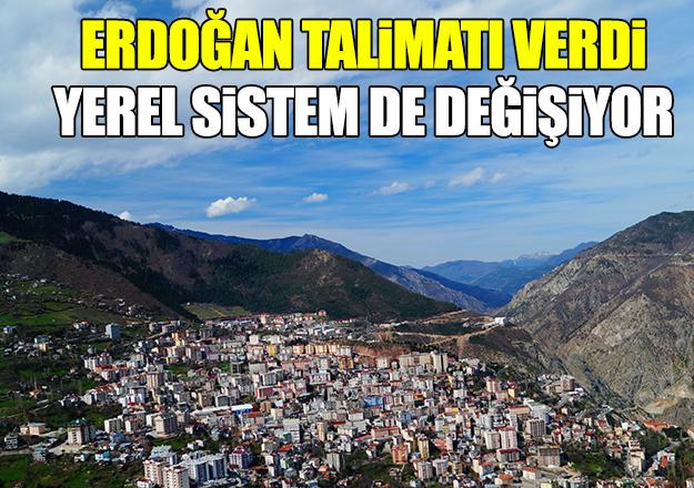 Erdoğan düğmeye bastı! Yerel sistem de değişiyor