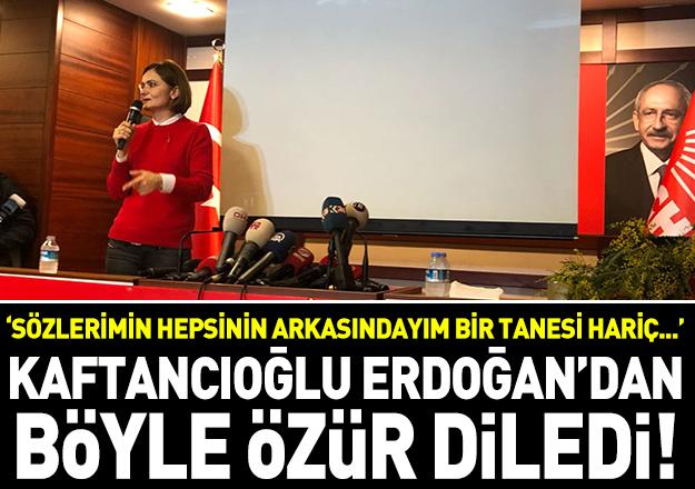 Kaftancıoğlu Erdoğan'dan o tweetler için özür diledi