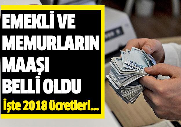 Memur ve emekli maaşları belli oldu! 2018 yılında kaç lira maaş alınacak