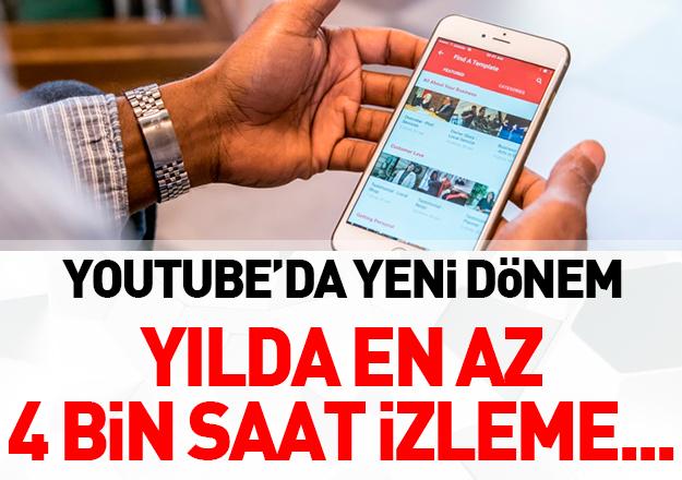 Youtube para kazanma kriterlerini değiştirdi