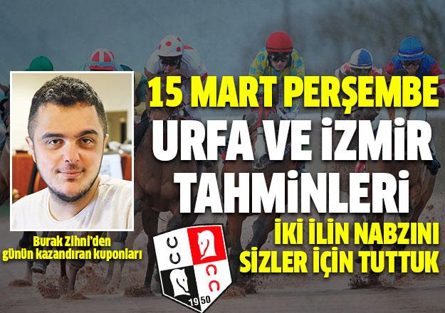 15 Mart 2018 Perşembe İzmir ve Urfa At Yarışı Tahminleri - Kazandıran Altılı Ganyan Bülteni