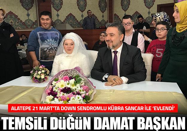 Temsili düğün damat başkan