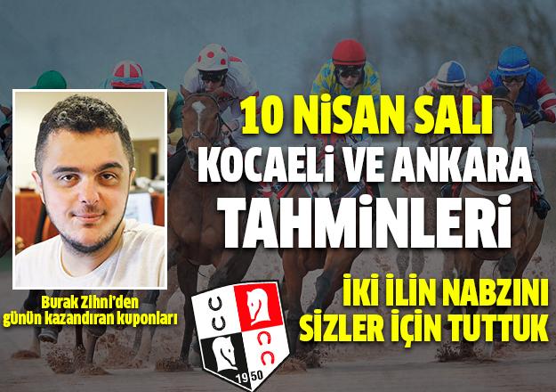 10 Nisan 2018 Salı Ankara ve Kocaeli At Yarışı Tahminleri