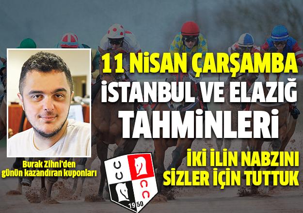 11 Nisan 2018 Çarşamba İstanbul ve Elazığ At Yarışı Tahminleri