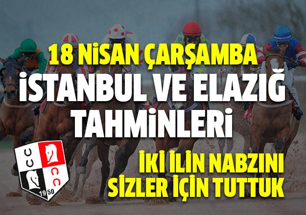 18 Nisan 2018 Çarşamba İstanbul ve Elazığ At Yarışı Tahminleri - Hazır Tahmin ve Kupon