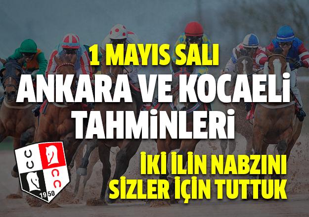 1 Mayıs2018 Salı Ankara ve Kocaeli At Yarışı Tahminleri | Altılı Ganyan Tahminleri