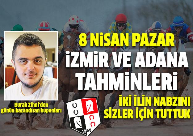 8 Nisan 2018 Pazar At Yarışı Tahminleri | İzmir ve Adana koşuları
