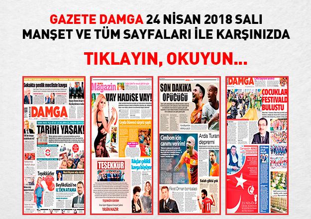 Gazete Damga 24 Nisan Salı tüm sayfaları okuyun