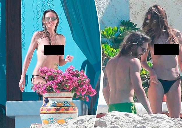 Heidi Klum sevgilisiyle üstsüz yakalandı, jakuizide öpüştü