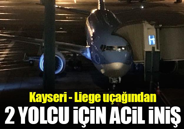 Liege uçağından Atatürk Havalimanı'na acil iniş