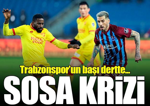 Trabzonspor'da Sosa krizi!