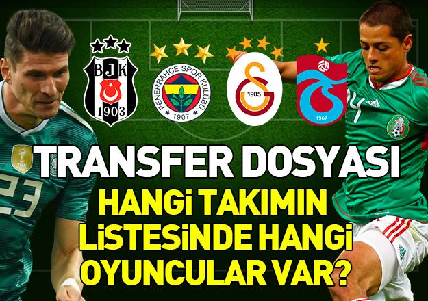 2018-2019 sezonu transfer çalışmaları başladı! Hangi takım kimi istiyor