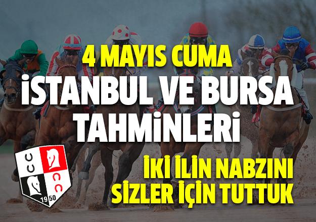4 Mayıs 2018 Cuma İstanbul ve Bursa At Yarışı Tahminleri - Hazır Kupon ve Tahminler