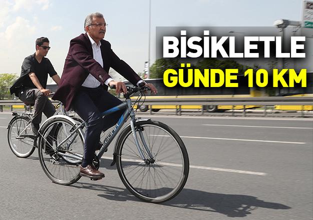 Bisikletle günde 10 kilometre!