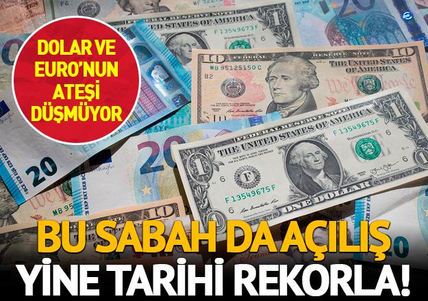Euro ve dolar bugün de rekorla başladı