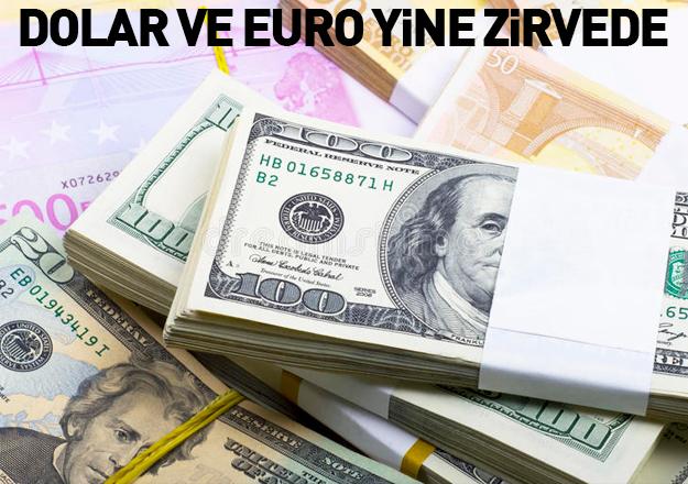 Euro ve dolar yine rekor kırdı!