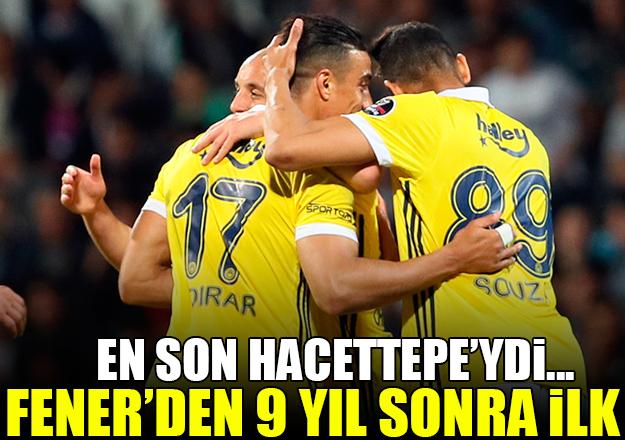 Fenerbahçe'de 9 sene sonra ilk