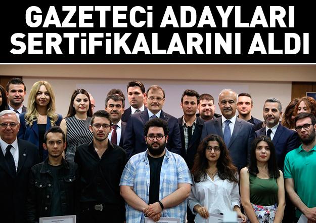 Gazeteci adayları sertifika aldı