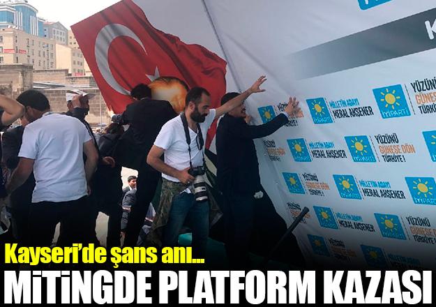 Platform çöktü