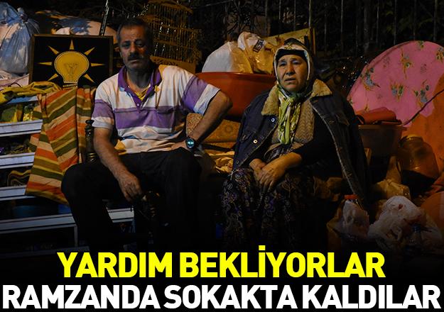 Ramazan ayında sokakta kaldılar