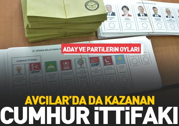 24 Haziran Seçimleri Avcılar sonuçları