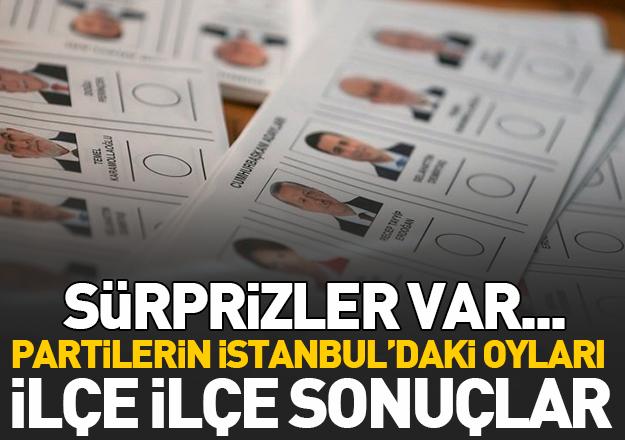 24 Haziran Seçimleri İstanbul'da hangi parti yüzde kaç oy aldı? İlçe ilçe sonuçlar