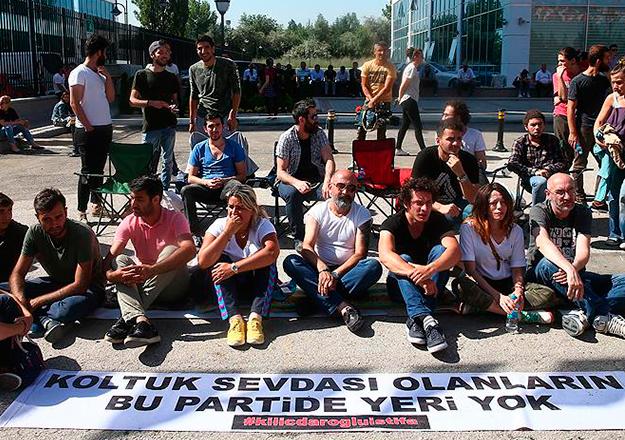 CHP Genel Merkezi önündeki eylem sona erdi