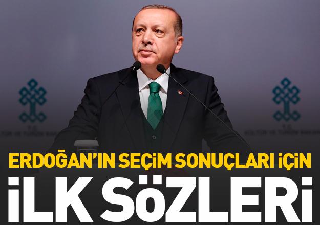 Erdoğan'dan seçim sonucu açıklaması
