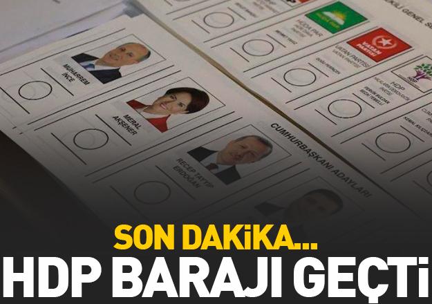 HDP barajı geçti! Yüzde kaç oy aldı?