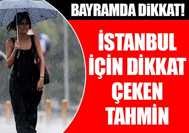 İstanbul'da bayramda yağmur yağacak mı?