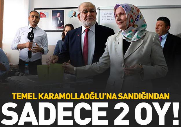 Karamollaoğlu'na 2 oy çıktı!