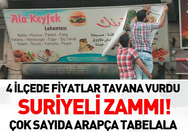 Suriyeli zammı!