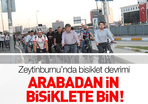Arabadan in bisiklete bin