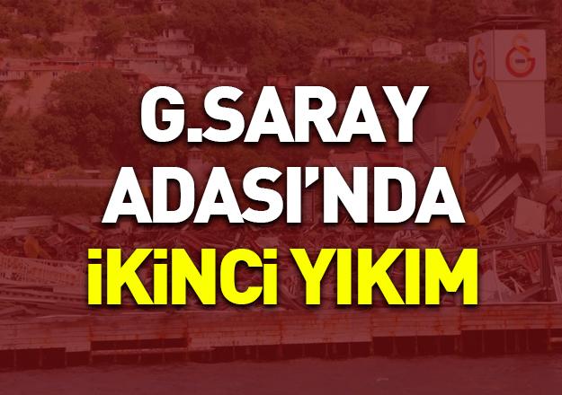 Galatasaray Adası'nda bu sabah ikinci yıkım başladı