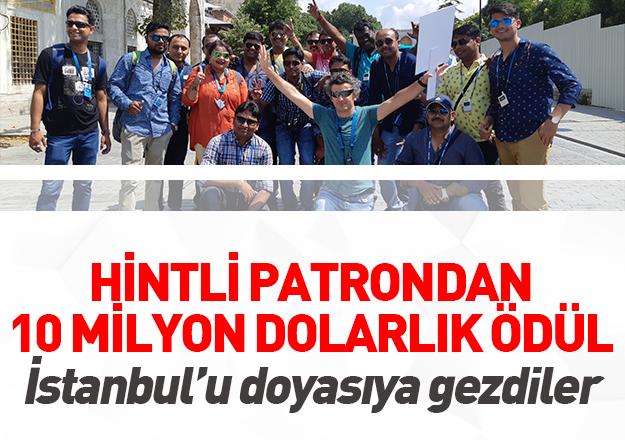 Hintliler İstanbul'u gönüllerince gezdi