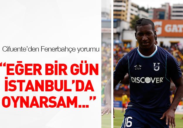 Jhon Cifuente'den Fenerbahçe cevabı