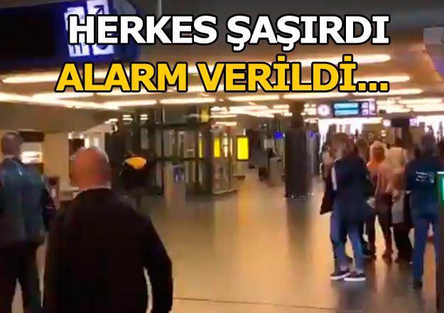 Amsterdam'da alarm verildi! Bıçaklı saldırgan yakalandı