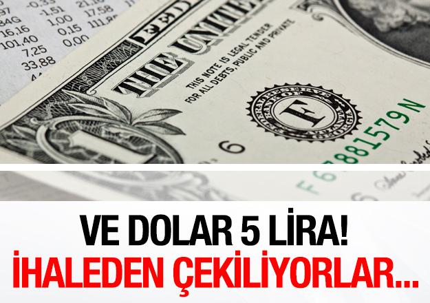 Dolar 5 liraya düştü!