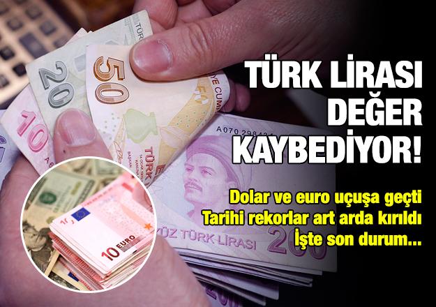 Dolar ve euro uçuşa geçti! Türk lirası değer kaybediyor
