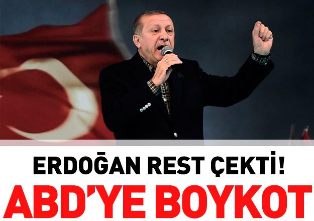 Erdoğan: Amerika ürünlerine boykot uygulayacağız