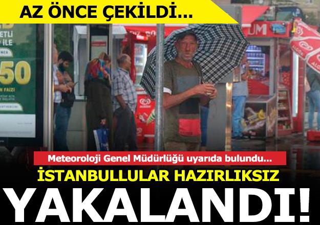 İstanbul'da gök gürültülü sağanak yağış uyarısı