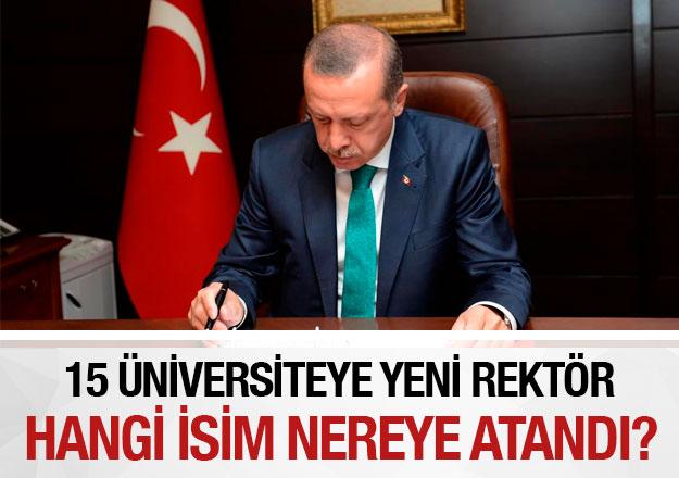 15 üniversiteye rektör ataması! 6 Eylül 2018 Resmi Gazete kararları