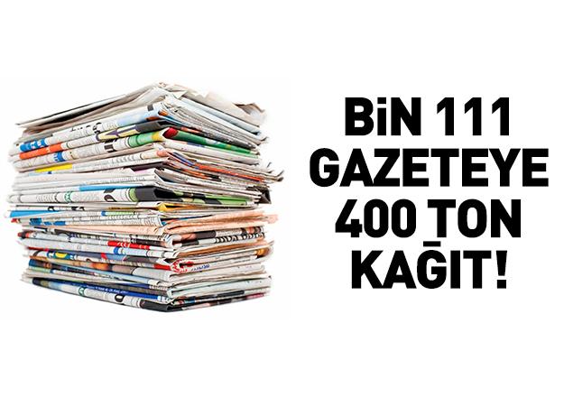 Günde 400 ton kağıt tüketiliyor