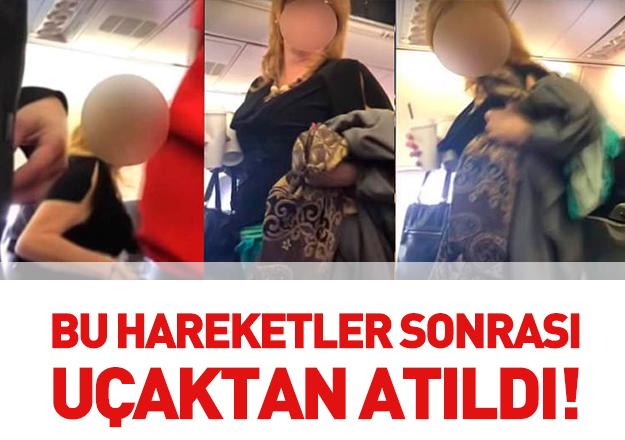 Irkçı hareketler kadın yolcuıyu uçaktan attırdı